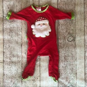 Mud pie baby 0-6 month Santa Sleeper